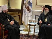 Митрополит Иларион встретился с Патриархом Антиохийским Иоанном