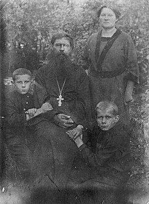 Отец Петр Чесноков с семьей