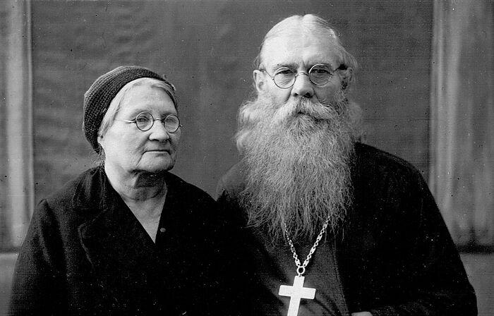 Петр Чесноков и матушка Надежда