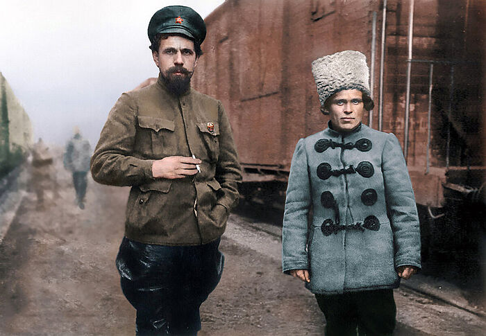 Павел Дыбенко и Нестор Махно