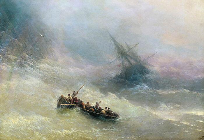«Радуга» И. Айвазовский, 1873, Госудасрветнная Третьяковская галерея