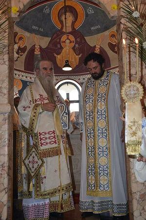 Владыка Амфилохий рукополагает в иеромонахи отца Владимира (Палибрка)