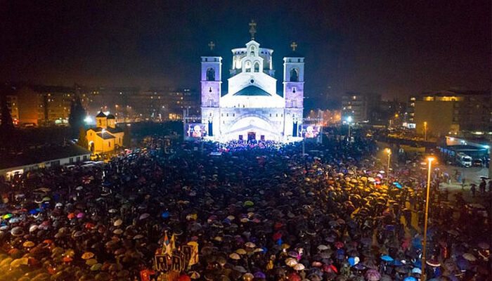 50,000 faithful in Montenegro went out to the nighttime prayer vigil