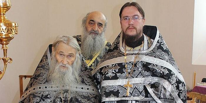 Схиархимандрит Илий, отец Илиодор и отец Дионисий