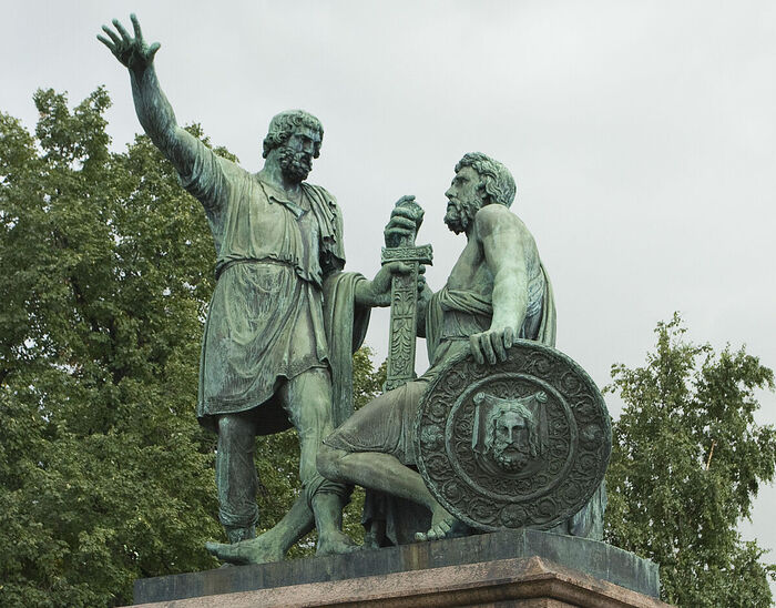 Monument to Minin and Pozharsky on Red Square in Moscow. Photo: Dimitry Kazakov/mskguide.ru