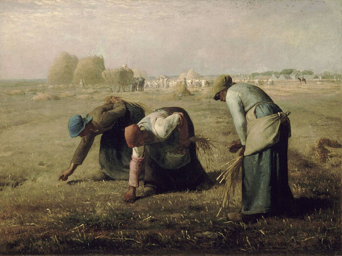 Jean-François Millet. The Gleaners, 1857. Musée d'Orsay, Paris. Photo: wikipedia.org