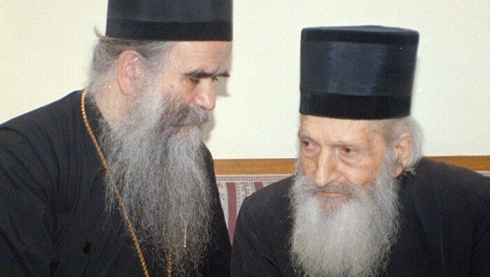 Ο Πατριάρχης Σερβίας Παύλος και ο Μητροπολίτης Αμφιλόχιος