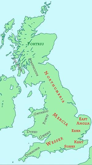 Британия около 800 года