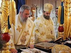 Κύπρος - Συνοδικοί κόβουν τα συλλείτουργα με τον Αρχιεπίσκοπο Χρυσόστομο