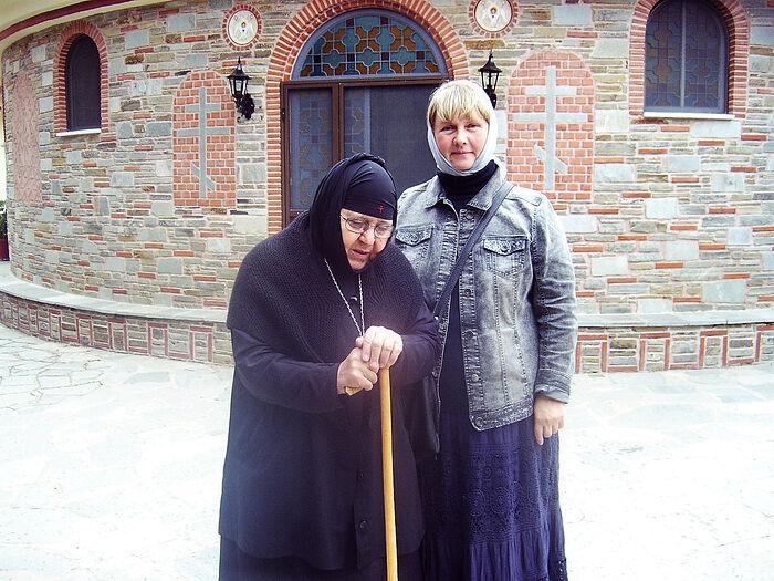 С герондиссой Анисией в Свято-Вознесенском монастыре