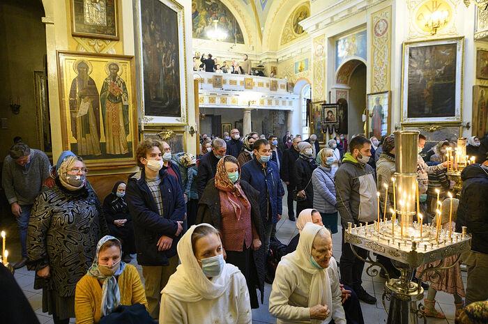 Богослужение в Михайловском соборе