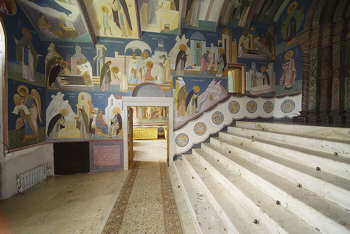 Narthex of the Holy Trinity Cathedral, Holy Trinity St. Sergius Lavra. Painted in 2008.