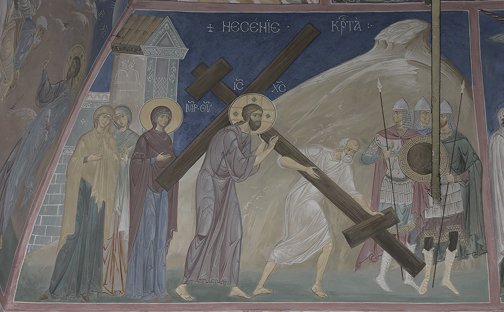 Ο Κύριος μεταφέρει τον Σταυρό