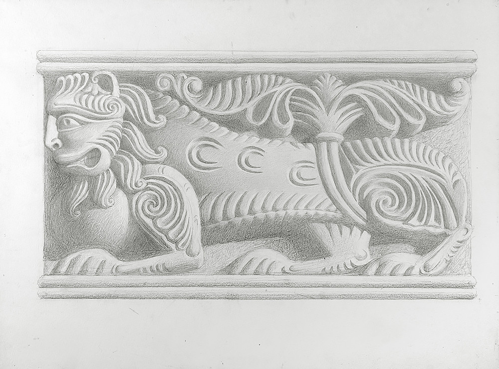 Sketch of a carving, 2006