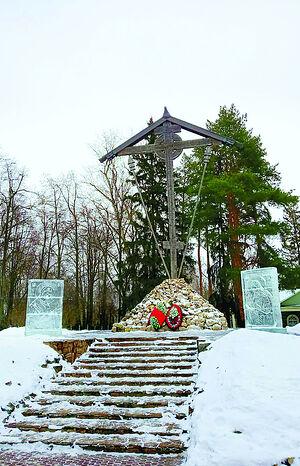 Большой соловецкий крест на Бутовском полигоне