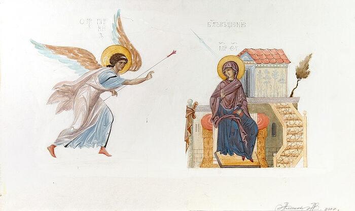 Sketch of the Annunciation. Belgorod, 2007.