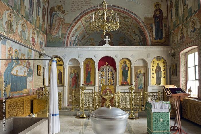 Крестильня в храме Илариона Великого в Оптиной пустыни