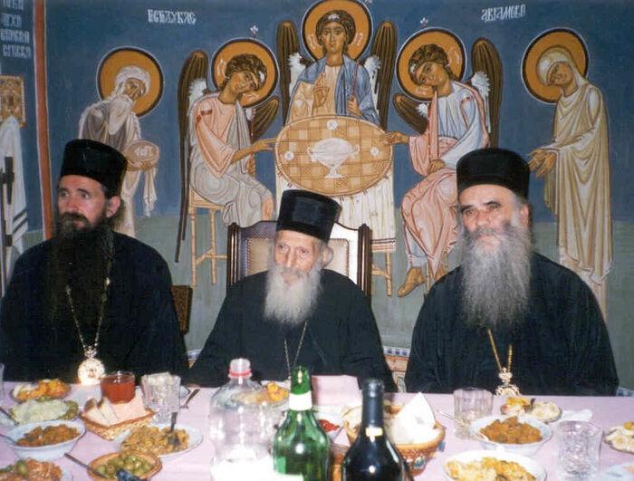 Владыка Амфилохий (Радович) с Патриархом Павлом. Фото Светланы Луганской