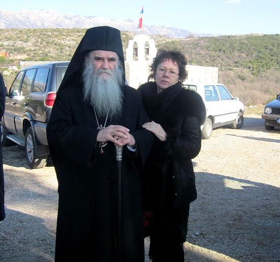 Рядом с владыкой Амфилохием Светлана Луганская