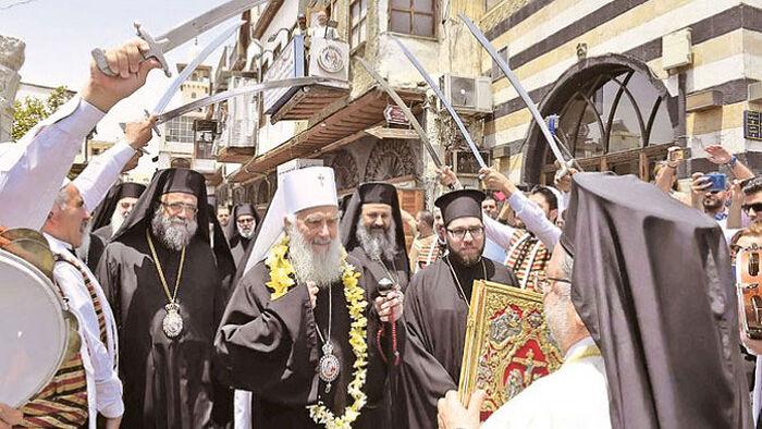 Са делегацијом СПЦ у Дамаску (Фото СПЦ)