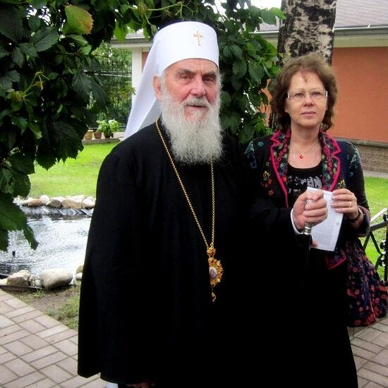 Патриарх Сербский Ириней и Светлана Луганская