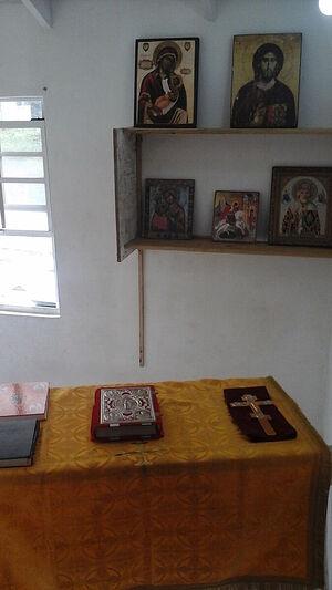 Fr. Ambrose's humble altar