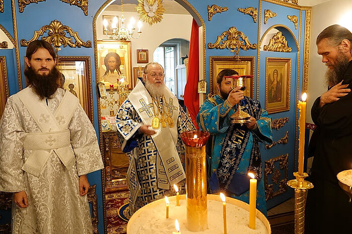 During the service when Fr. Ambrose was ordained to the diaconate by Metropolitan Hilarion, the First Hierarch of ROCOR
