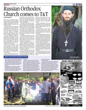 One of Fr. Ambrose's pastoral visits to Trinidad and Tobago was featured in a local newspaper.