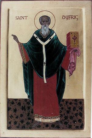 Икона свт. Дифрига (Дубрикия) Эргингского (иконописец - Айдан Харт)
