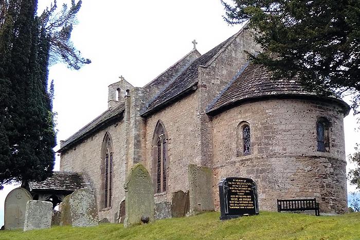 Церковь Архангела Михаила и прочих Небесных сил в Моккасе, Херефордшир (фото любезно предоставлено Prof. Rachel Jenkins)