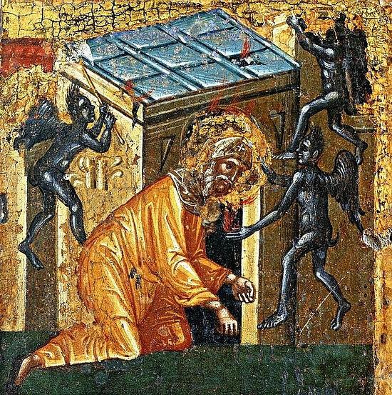 Искушение бесами преподобного Антония Великого