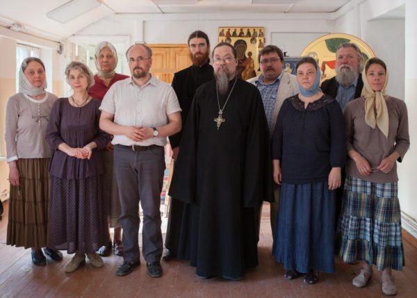 Archimandrite Luke, priest Sergiy Churakov, and the iconography instructors