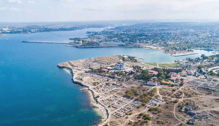 Как этот единственный в России византийский город виден при полете «Грифона»