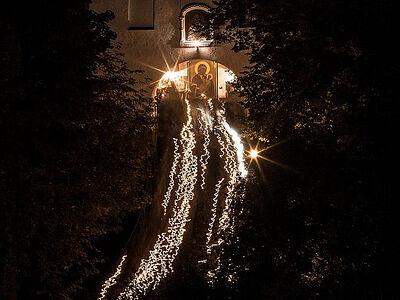 Η εορτή της Κοιμήσεως της Θεοτόκου στην Ιερά μονή σπηλαίων του Πσκώφ