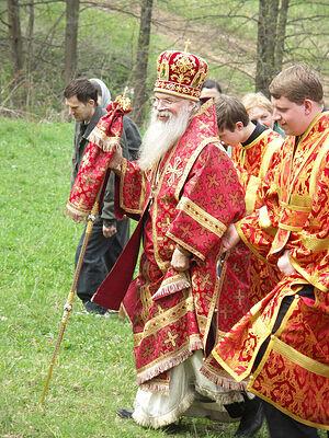 Владыка Алексий (Фролов). Крестный ход на престольный праздник в Дураково