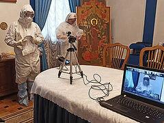 Священникам рассказали о правилах посещения COVID-больных и совершении Таинств в красной зоне