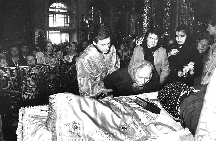 Прощание с Патриархом Пименом. 1990 г.