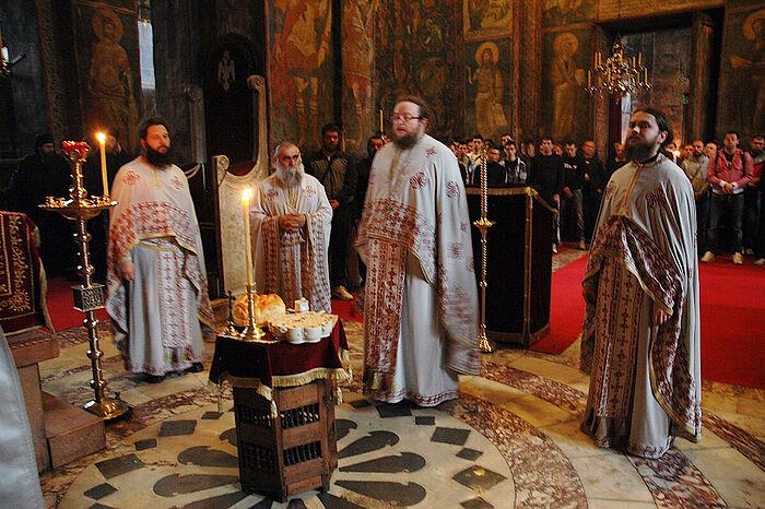 В сербском монастыре Высокие Дечаны. Косово и Метохия, Сербия