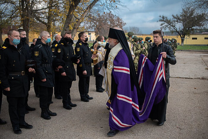 Освящена часовня в 4 полку РХБ защиты Черноморского флота