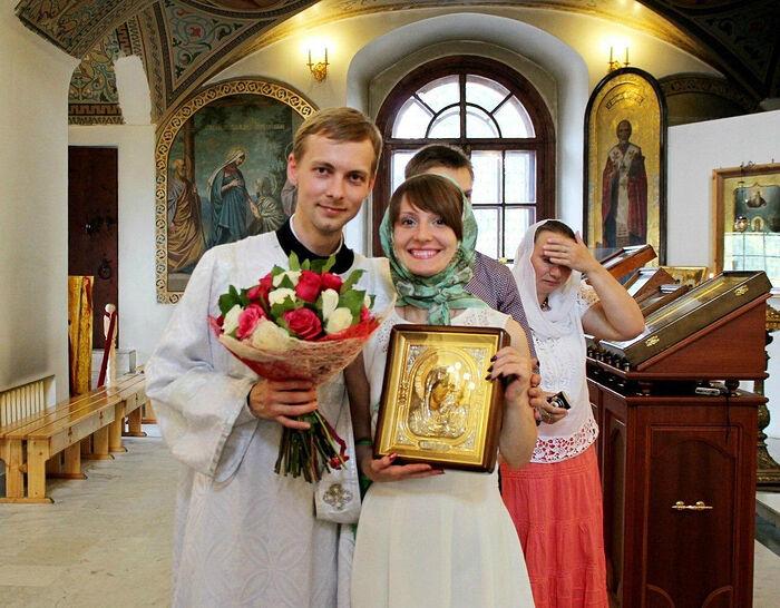 Отец Александр Хорошилов с Аней