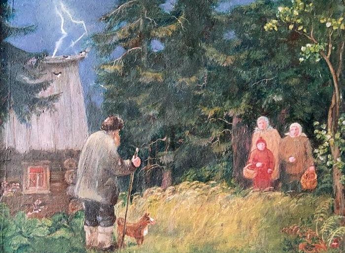 Гроза. Работа Искры (Александры) Андреевны Бочковой