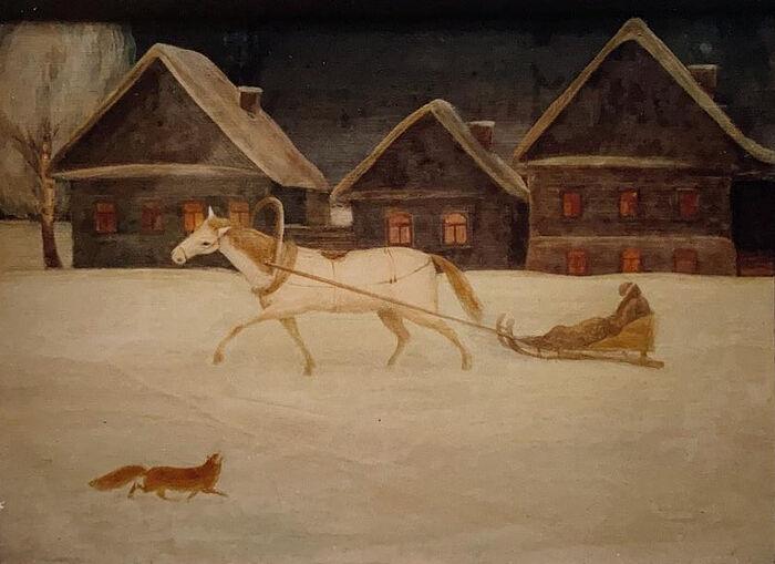 Зима. Работа Искры (Александры) Андреевны Бочковой