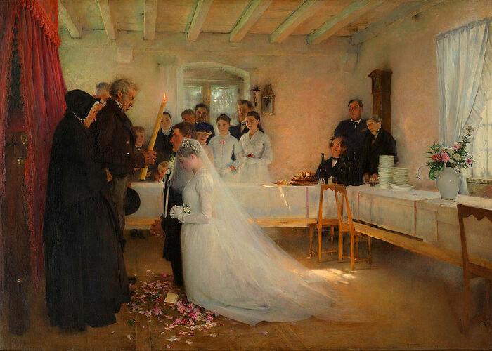 Ευλογία των νεόνυμφων (Pascal Dagnan-Bouveret), 1880-1881