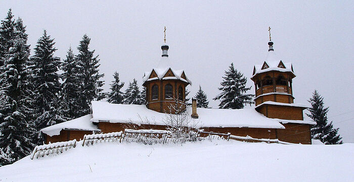 The Church of Dormition, Vnuto Village, Khvoyninsky Region (Novgorod Region) where Hildo Bos was baptized in 1991.