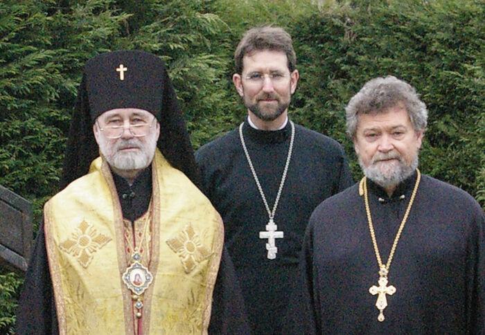 Fr. Hildo Bos with Vladyka Simon and Fr. Sergey Ovsyannikov