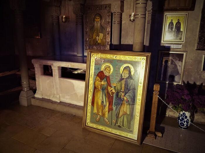 Wonderworking icon and holy relics of elder Gabriel