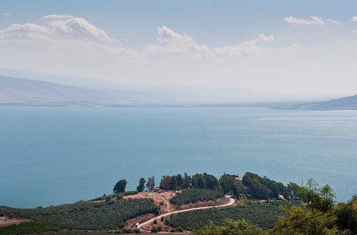 The Sea of Galilee.