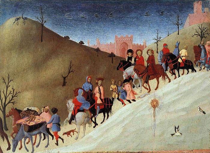 Sassetta (Stefano di Giovanni di Consolo). The Journey of the Magi