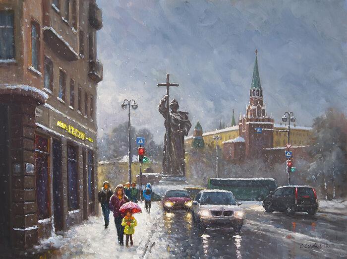 Снег в Москве. Художник: Сергей Соловьев