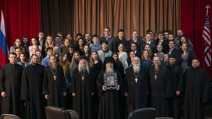Участники Свято-Германовского съезда молодежи в г. Лос-Анджелес, шт. Калифорния
